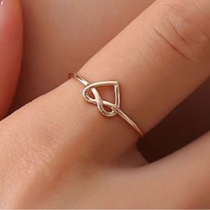 Jewelry - Rose Gold Heart Ring, Adjustable